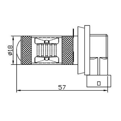 Протитуманна LED лампа UP-7G-H8WB-30W (біла, 12-24 В) Прев'ю 1