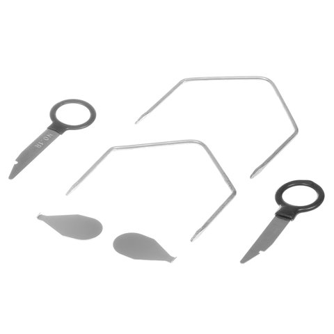 Набор инструментов для снятия штатных и нештатных автомагнитол (сталь, 38 предметов) Превью 4