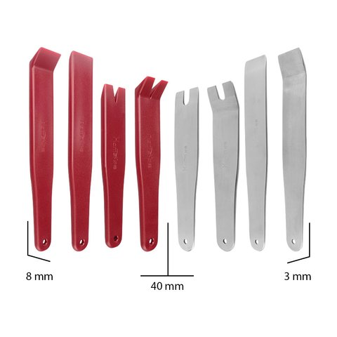 Car Trim and Panel Removal Tools Kit (Polyurethane/Stainless Steel, 8 pcs.) Preview 3